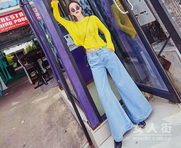 不老的时尚,9月喇叭裤穿搭回归
