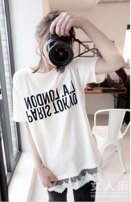潮妞夏日必备!30款最新流行T恤